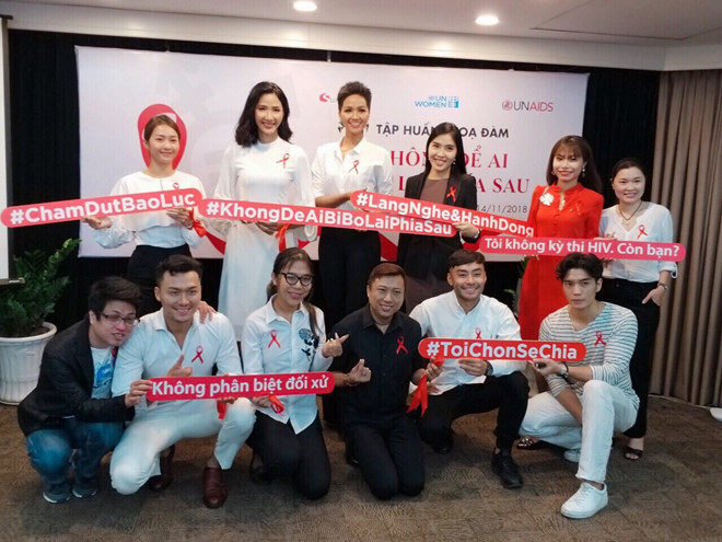 Thai Uyen participates in many social events for HIV-infected people. Photo: Supplied