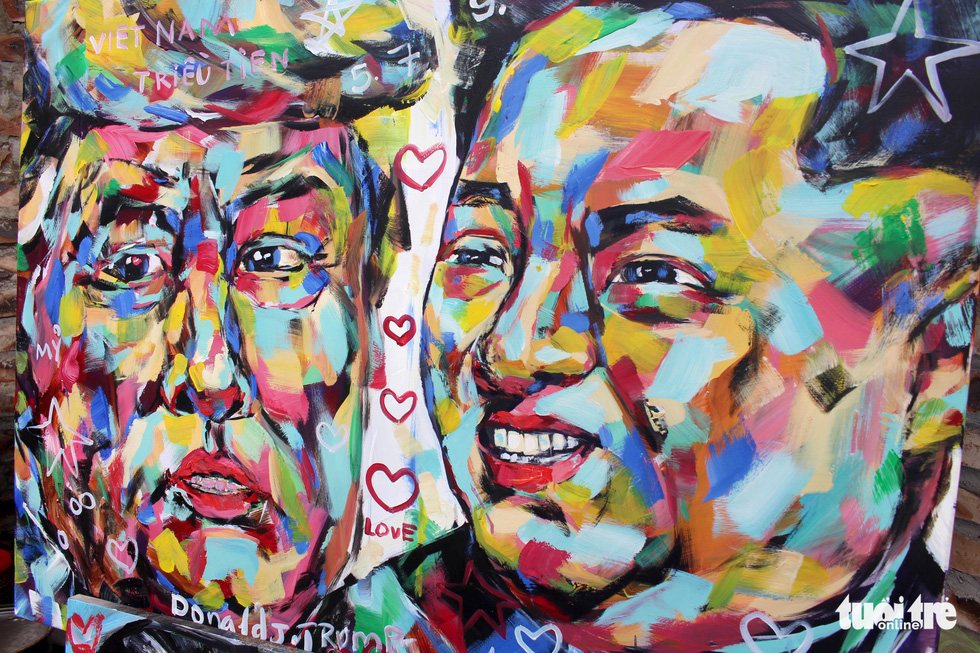 Vietnamese artist paints Trump, Kim portraits with global peace message
