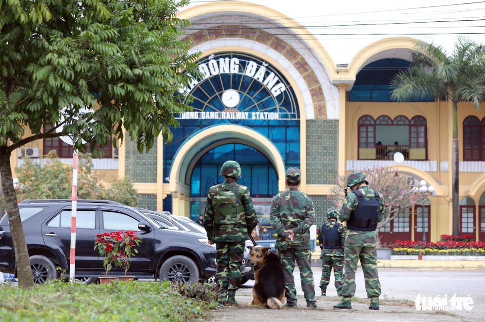 Vietnam military, police cordon off railway station to prepare for Kim Jong Un's arrival