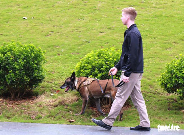 K-9 agents spotted in action near Hanoi hotel ahead of Trump-Kim summit
