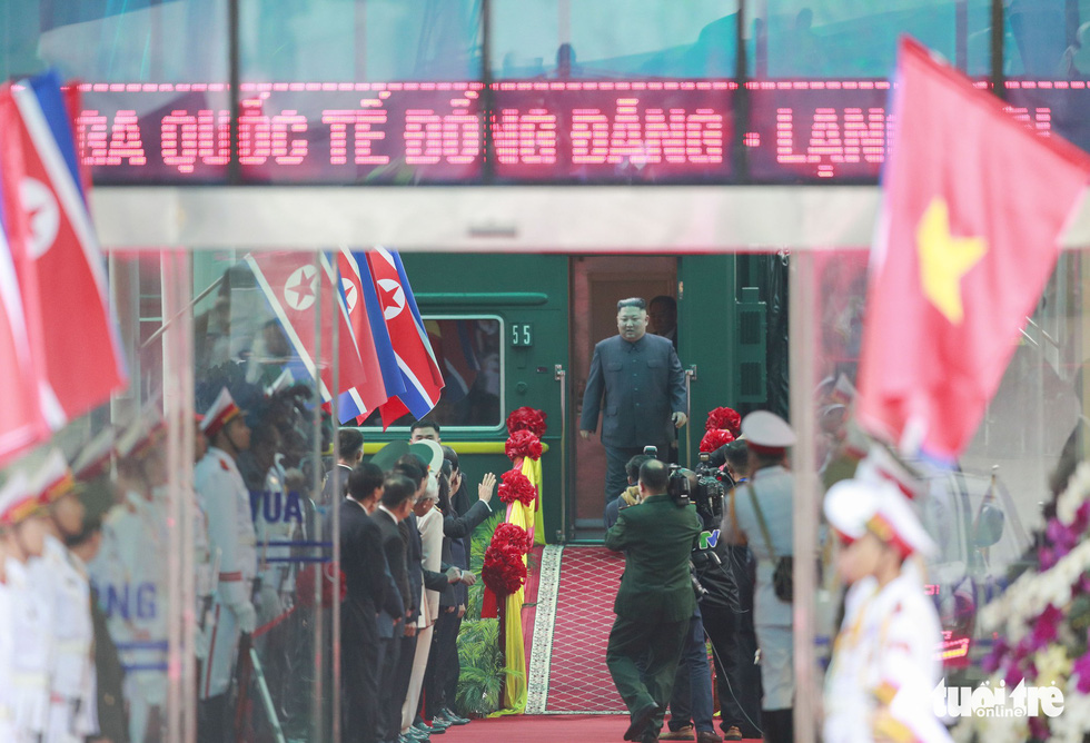 What did N.Korean leader Kim Jong Un say upon first arriving in Vietnam?