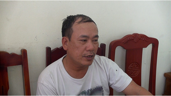 Nguyen Huy Xo is seen at a police station in Thanh Hoa Province, northern Vietnam. Photo: Thanh Hoa Police