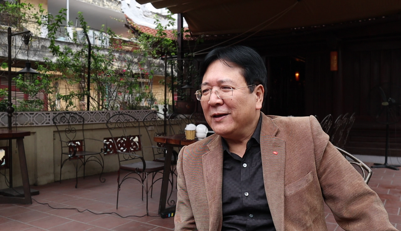 Vuong Duy Bien speaks to Tuoi Tre News in Hanoi. Photo: Ha My