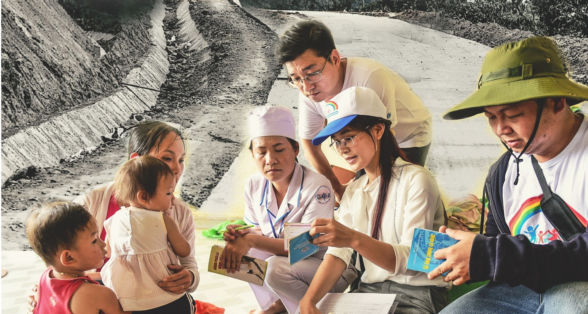Vietnamese doctors trek through forest to vaccinate far-flung villagers