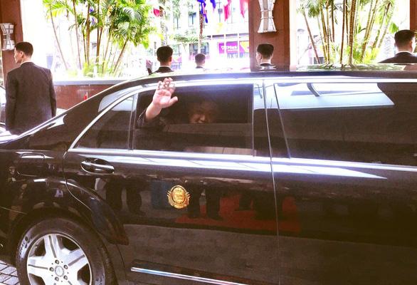 North Korean leader Kim Jong Un leaves Hanoi