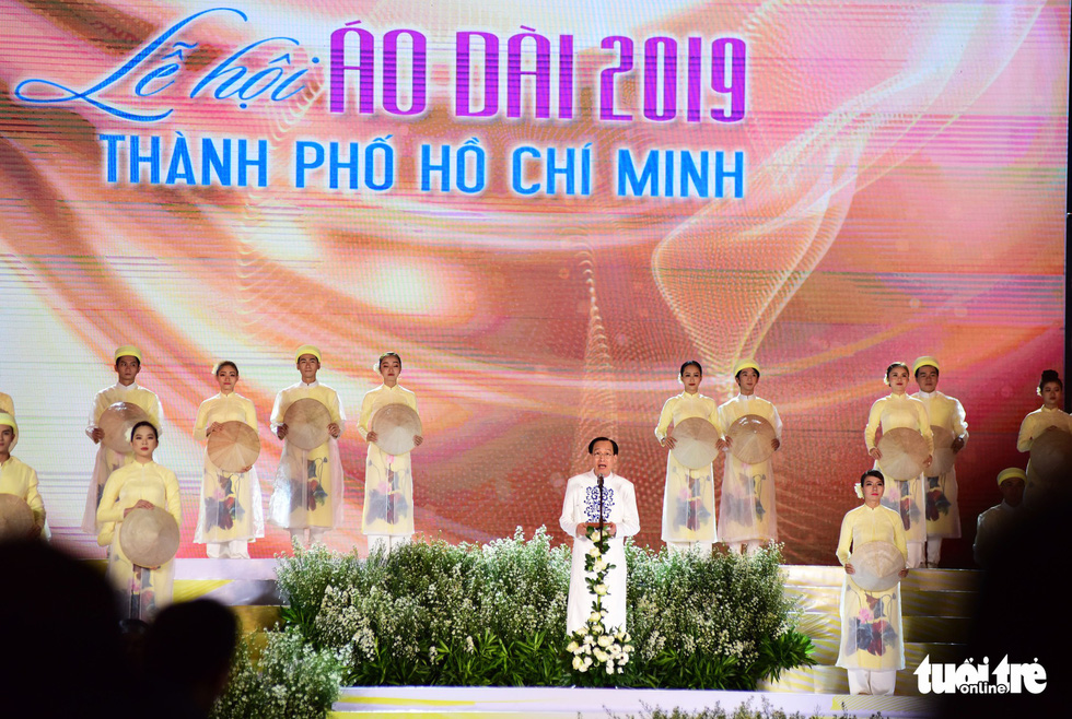 Le Thanh Liem, vice-chairman of the Ho Chi Minh City People's Committee, speaks at the event. Photo: Duyen Phan / Tuoi Tre