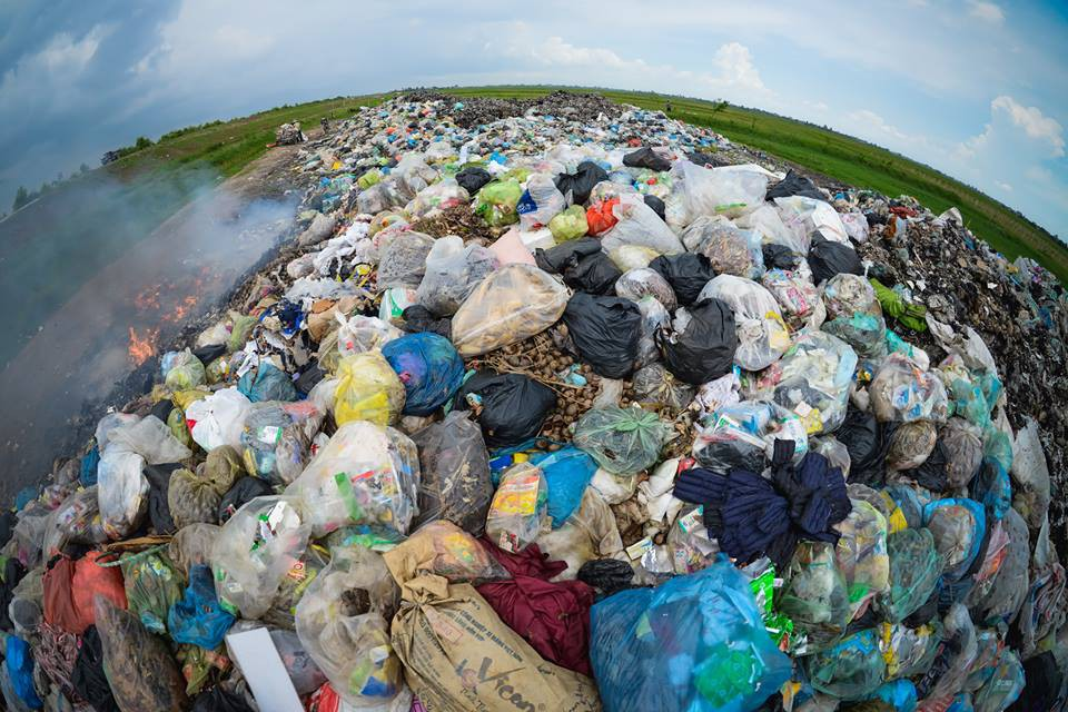 An overloaded landfill