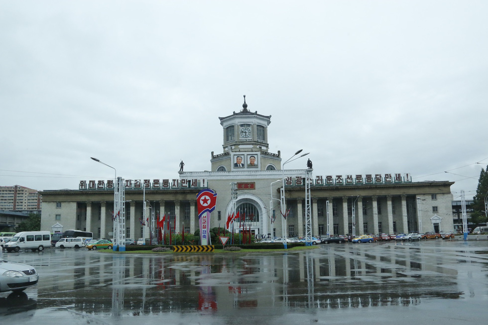 The Pyongyang train station in Pyongyang, North Korea. Photo: Thai Loc / Tuoi Tre