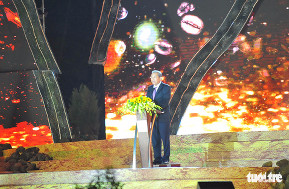 Deputy Prime Minister Truong Hoa Binh speaks at the ceremony. Photo: Dinh Cuong / Tuoi Tre