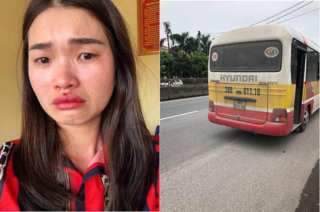 Passenger hit for capturing license plate of speeding scam bus in Vietnam