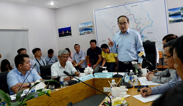 Secretary Nhan speaks at a meeting on March 12, 2019. Photo: Tu Trung / Tuoi Tre