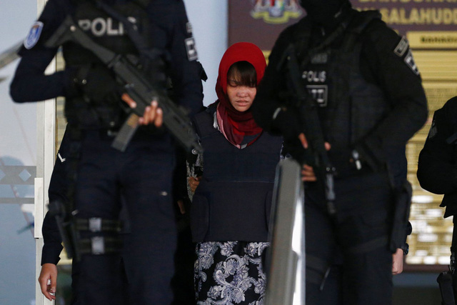 Vietnamese woman Doan Thi Huong leaves a court in Kuala Lumpur, Malaysia on March 13, 2019. Photo: Reuters