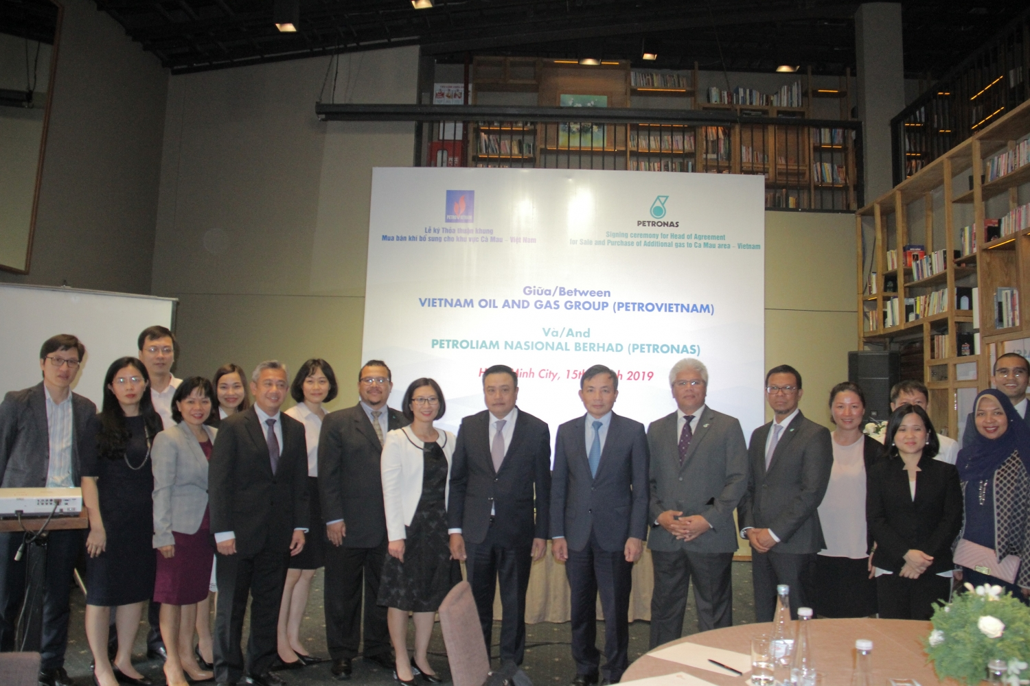 The signing ceremony marks a new development in Petrovietnam and Petronas relations