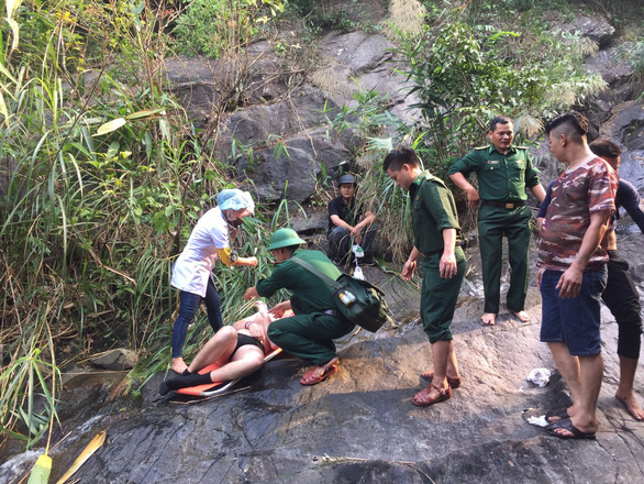 Foreign tourist rescued after slipping in waterfall swim in central Vietnam