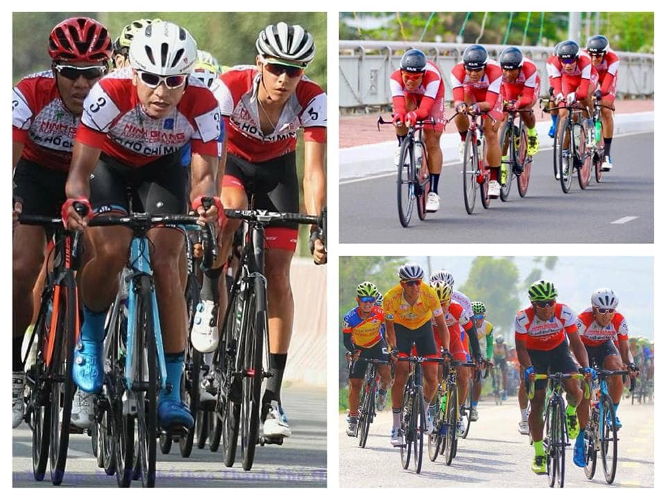 Bikers race in the past editions of the the Ho Chi Minh City Television Cycling Tournament. Photo: HTV The Thao
