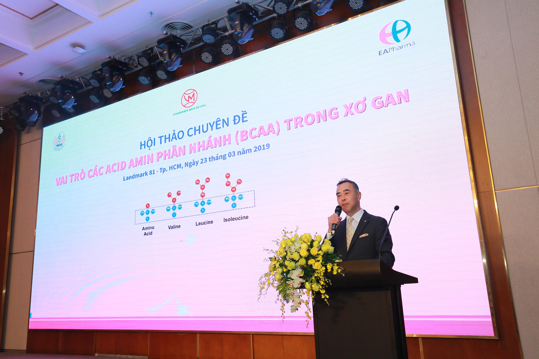 Thank-you speech from a representative of EAPharma Company