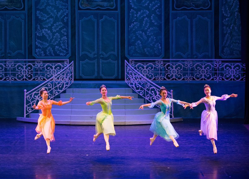 Guests dance with joy at a Royal Ball in this photo taken from the ballet 'Cinderella'. Photo: HBSO