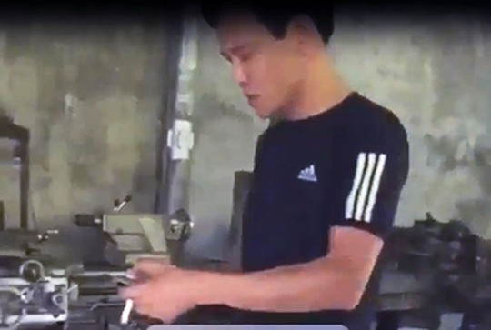 Do Duc Lan is seen in this screenshot captured from a video uploaded on Facebook