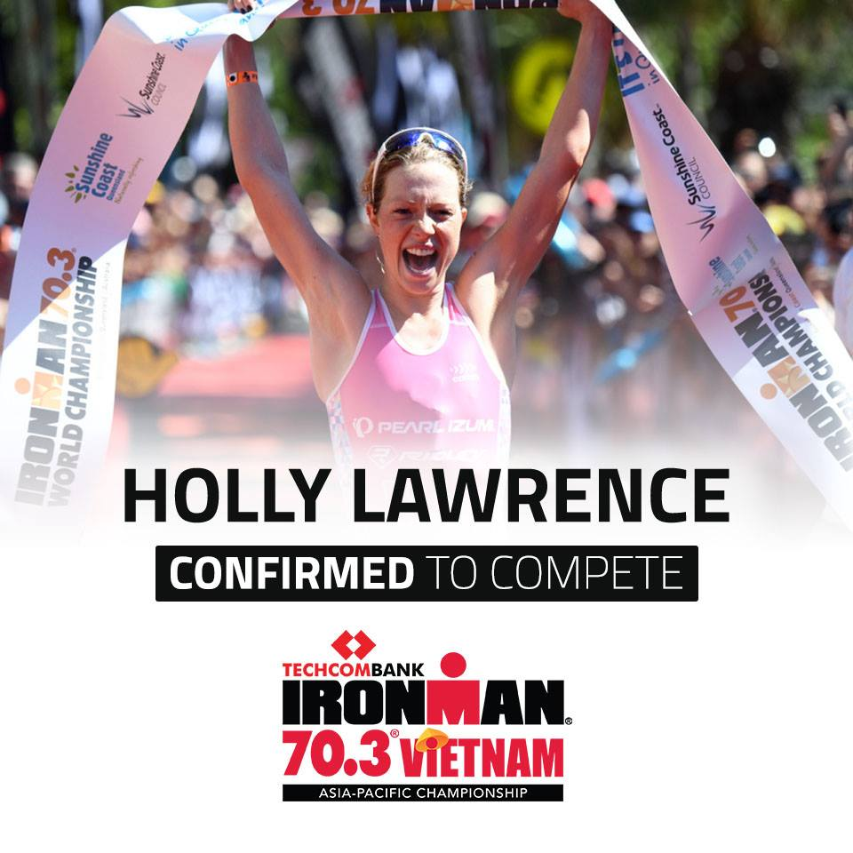 A poster confirming  participation of former Ironman 70.3 World champion Holly Lawrence uploaded on the official Facebook page of the 2019 Ironman 70.3 – Asia-Pacific Championship