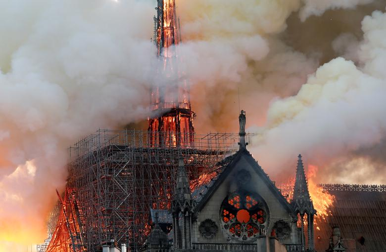 Fire guts Paris' Notre-Dame, but structure saved from destruction