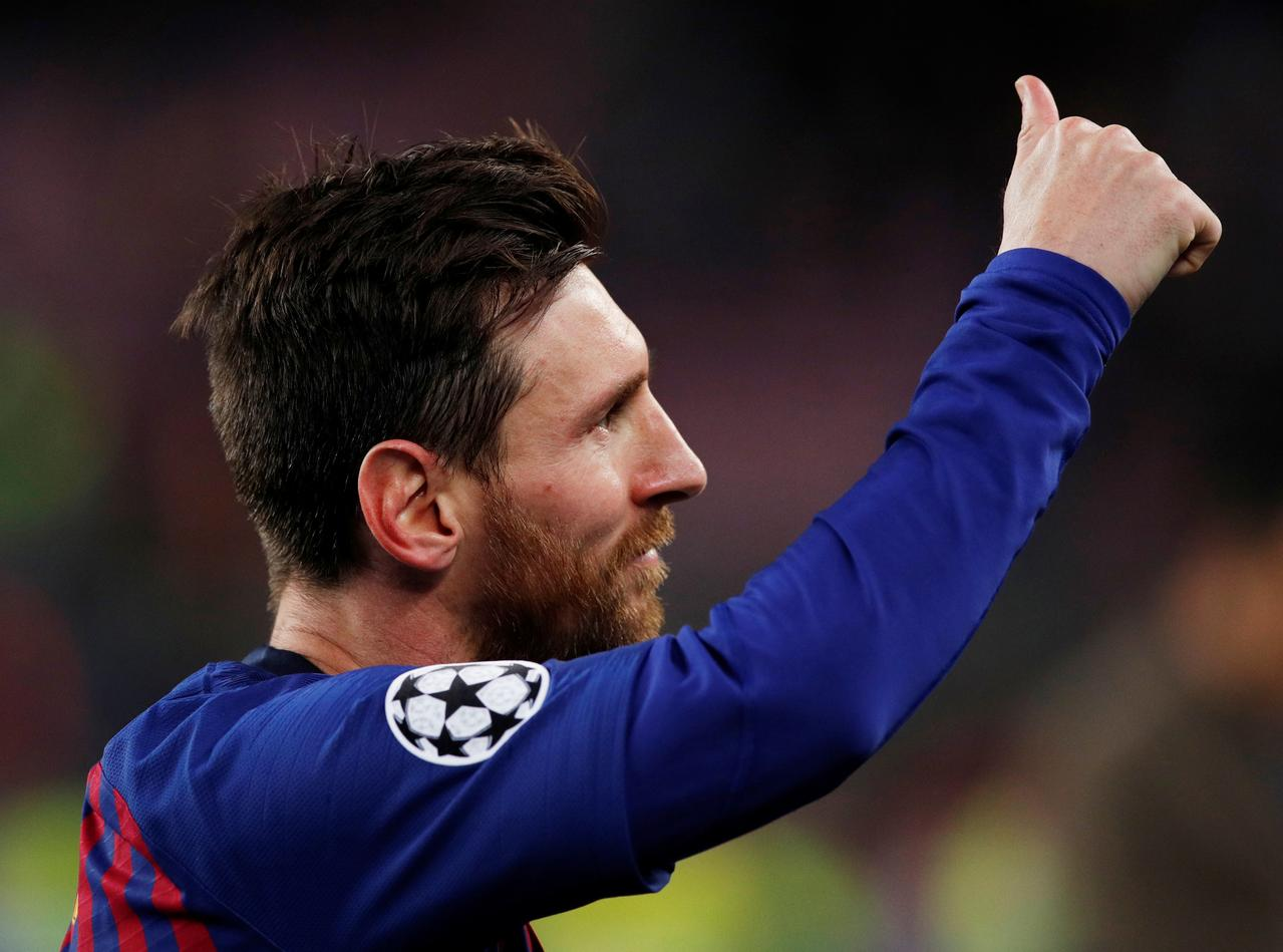 Barca reach semis with Messi exhibition against United