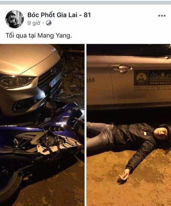 Vietnamese man stages 'accident' with parked taxi for Facebook likes
