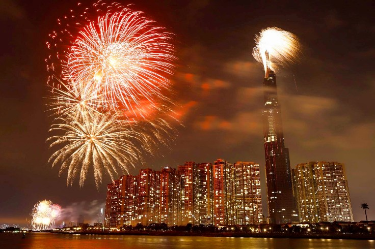 Vietnam's tallest building among three fireworks locations in Ho Chi Minh City on Reunification Day