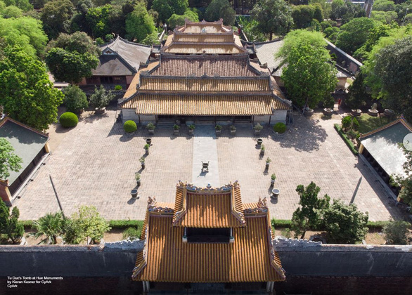 An aerial photo of the Tomb of Tu Duc in Hue, Vietnam. Photo: Open Heritage