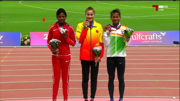 Vietnamese track-and-field queen strikes gold at Asian championship