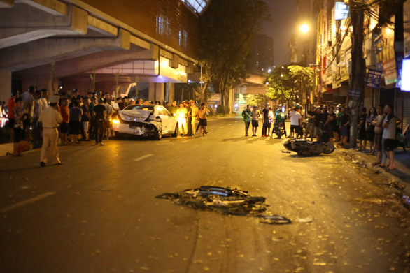 Driver arrested after killing street sweeper in DUI crash in Hanoi