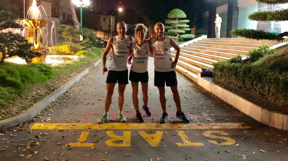 Expat trio run 300km through night to raise money for Vietnamese newborns