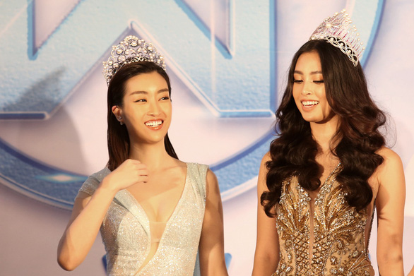 Miss World 2018's Beauty with a Purpose Do My Linh (left) and Miss Vietnam 2018 Tran Tieu Vy. Photo: Gia Tien / Tuoi Tre