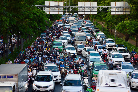 Traffic hell as people leave Vietnam's big cities for five-day holiday