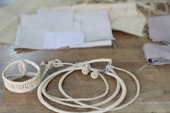 Leinné's jewelry is made of environmentally friendly materials. Photo: Supplied