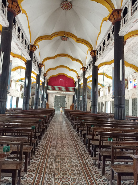 The interior of the Bui Chu Cathedral in Nam Dinh Province in north-central Vietnam. Photo: Tran Duong Anh / Tuoi Tre
