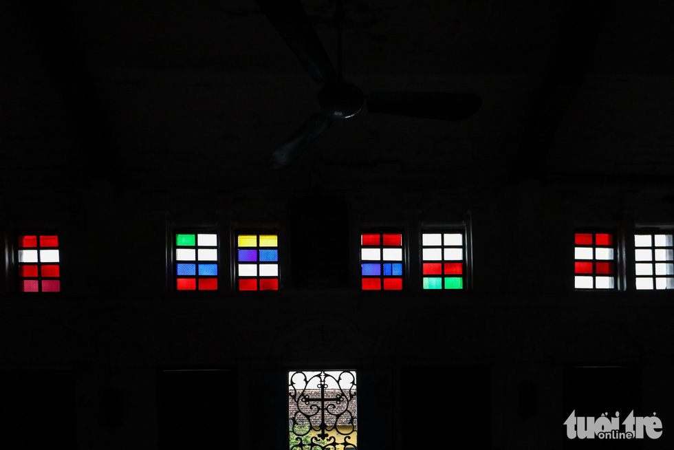 Stained glasses are used inside the Bui Chu Cathedral in Nam Dinh Province, Vietnam. Photo: Nguyen Khanh / Tuoi Tre