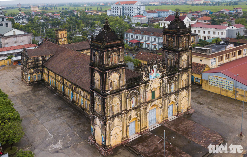 An aerial view of the Bui Chu Cathedral in Nam Dinh Province, Vietnam. Photo: Nguyen Khanh / Tuoi Tre