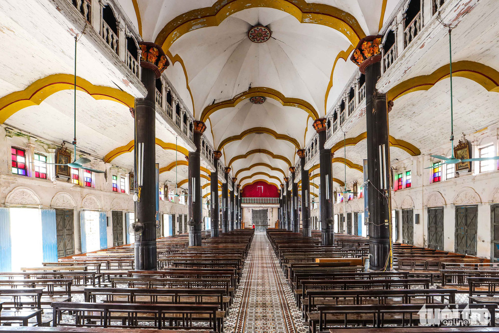 Elements of European baroque architecture are incorporated in the interior design of the Bui Chu Cathedral in Nam Dinh Province, Vietnam. Photo: Nguyen Khanh / Tuoi Tre