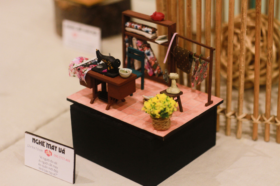 A model depicting a tailor's of old Saigon. Photo: Mai Thuy / Tuoi Tre