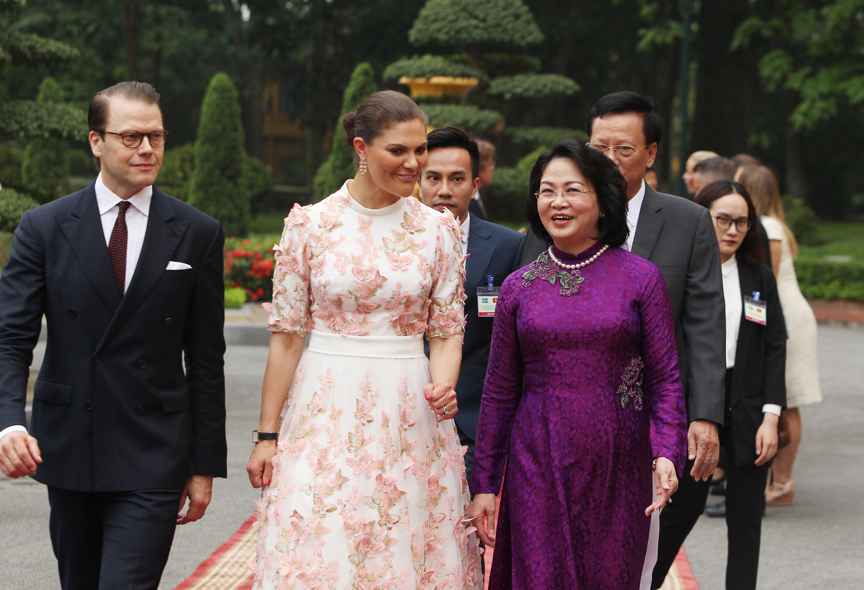 Vietnamese vice-president, Swedish crown princess talk measures to boost bilateral ties