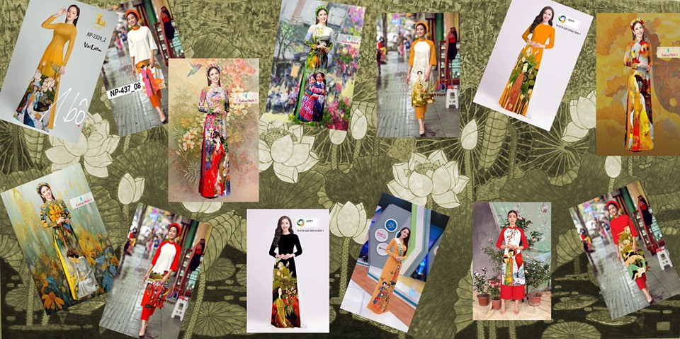 In Vietnam, ao dai makers use artworks as patterns without permission