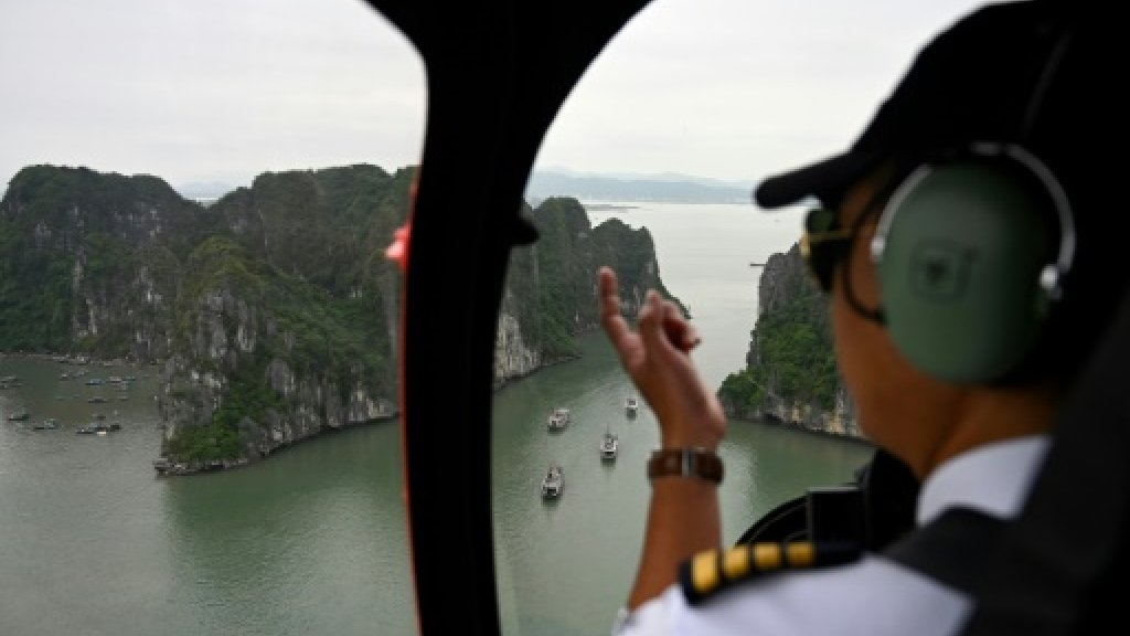 Ha Long heli: Vietnam launches chopper rides in famous bay