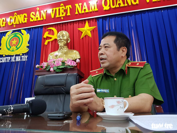 Major General Pham Van Cac, a senior official from the Ministry of Public Security, speaks at a press meeting in Ho Chi Minh City on May 12, 2019. Photo: Ngoc Hien / Tuoi Tre
