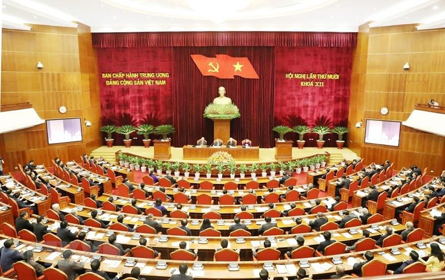 The 10th plenum of Vietnam's Party Central Committee commences in Hanoi on May 16, 2019. Photo: Vietnam News Agency