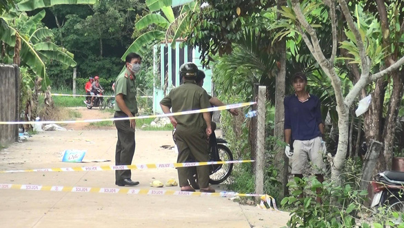 The house where the bodies were discovered. Photo: Ba Son / Tuoi Tre
