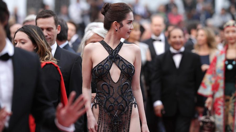 Vietnamese model Ngoc Trinh walks on the red carpet at the 2019 Cannes Film Festival in Cannes, France on May 19, 2019. Photo: Getty Images