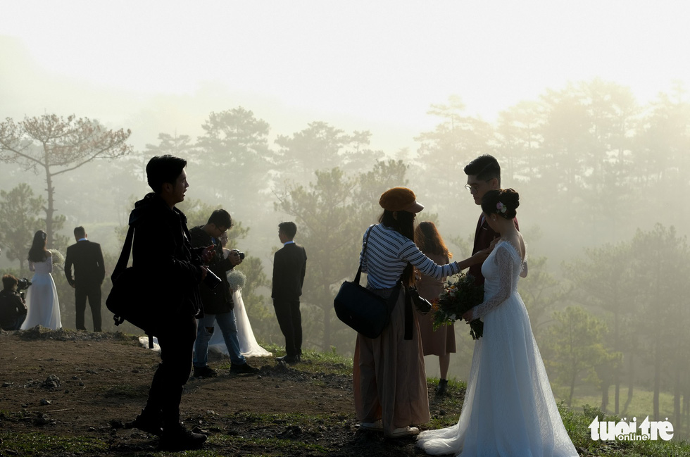 In Vietnam, wedding photo spot so popular couples line up daily for shoot
