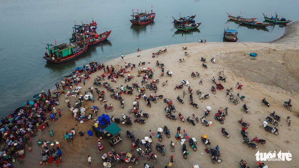 Morning fish market in north-central Vietnam