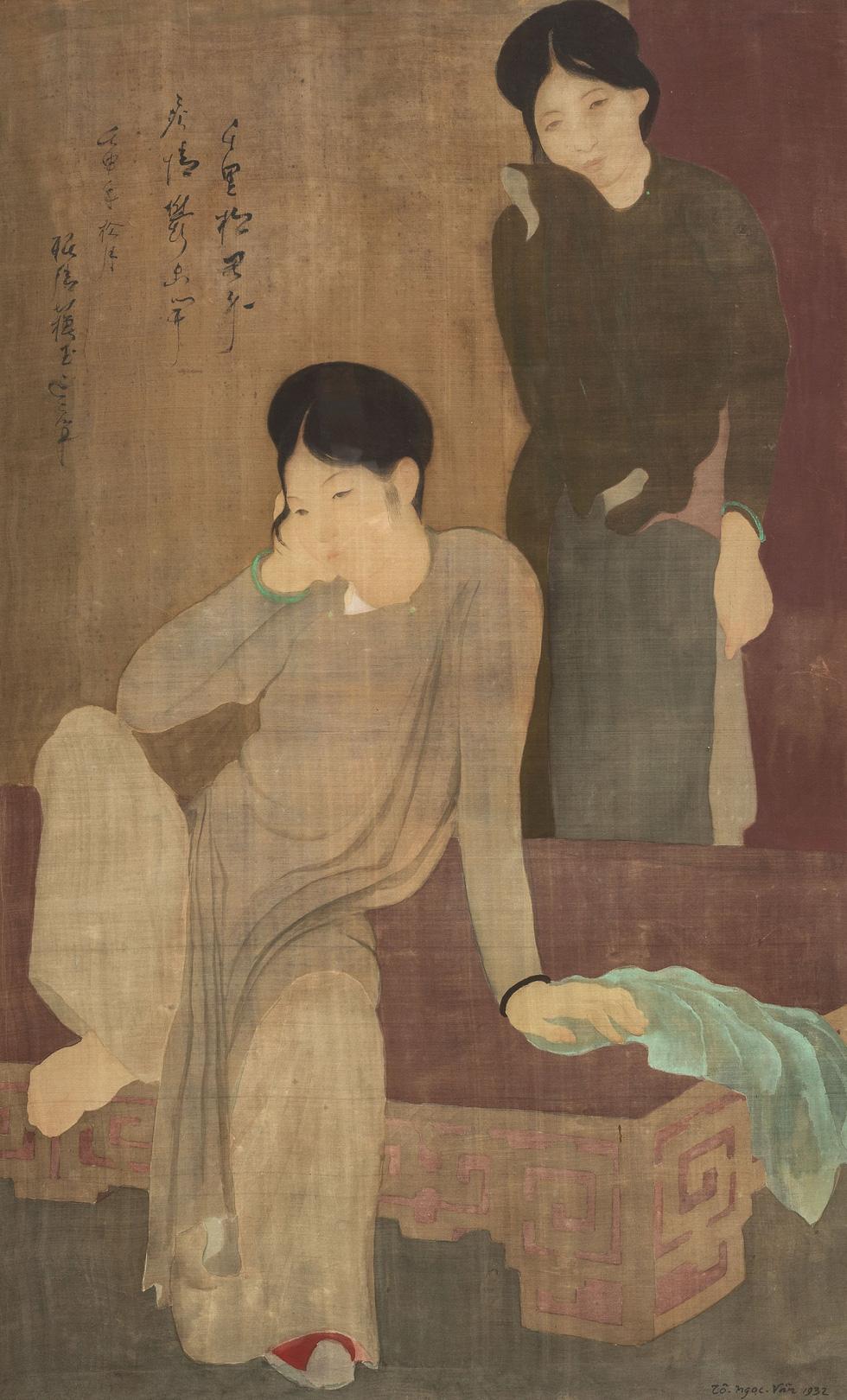 The painting Les Désabusées  late Vietnamese artist To Ngoc van