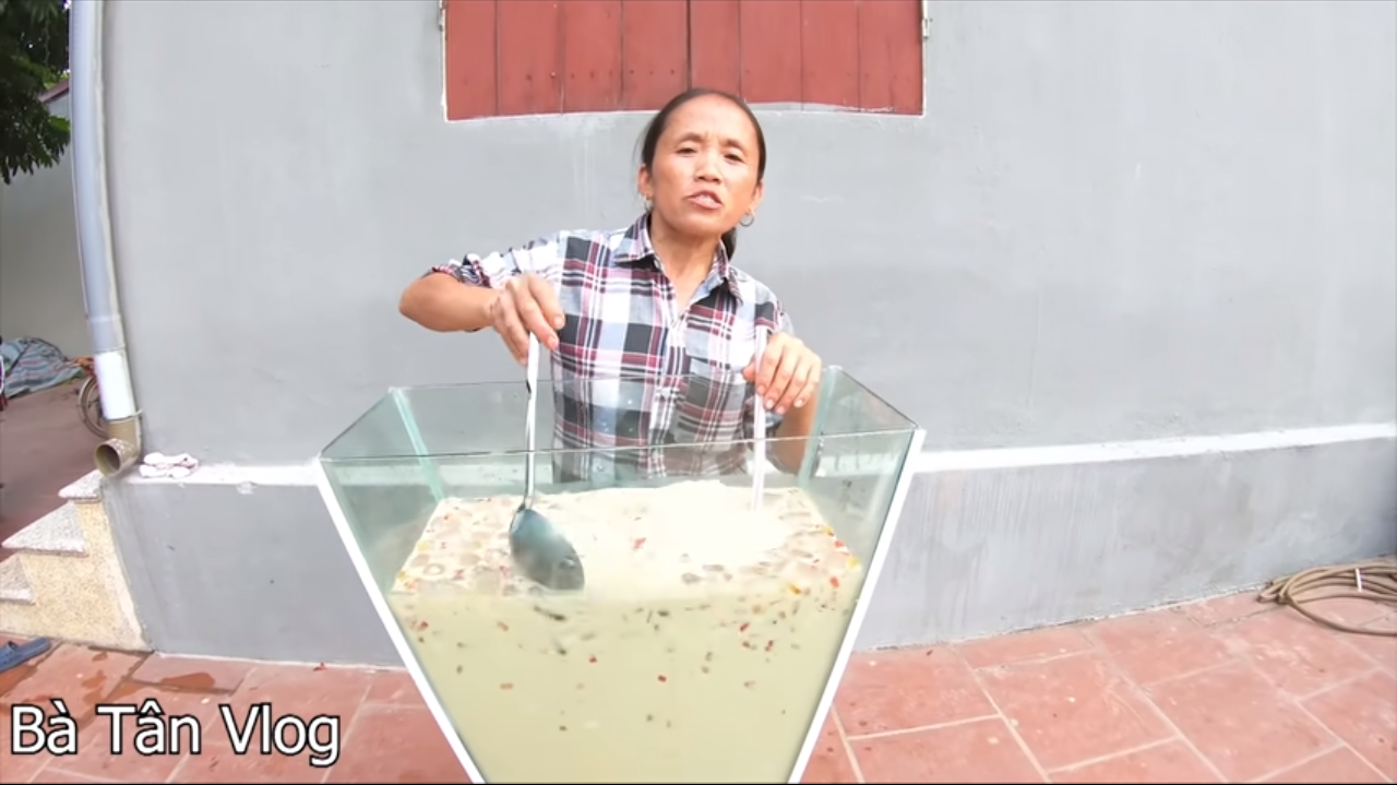 Giant food is this 58-year-old Vietnamese woman's recipe for YouTube success